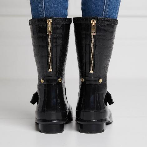 Short Zip Chelsea Wellingtons - Black Croc Image 4