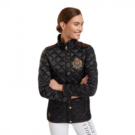 Equi Diamond Quilt Jacket - Black Image 3