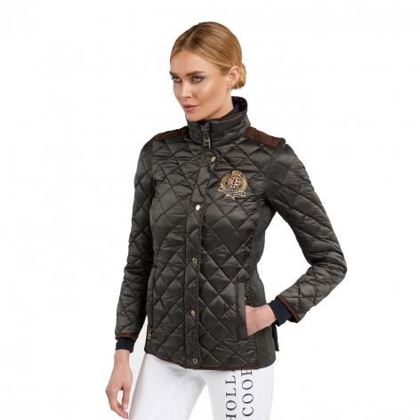 Equi Diamond Quilt Jacket - Khaki Image 3