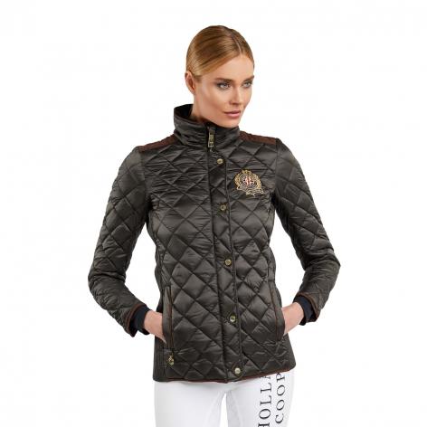 Equi Diamond Quilt Jacket - Khaki Image 4