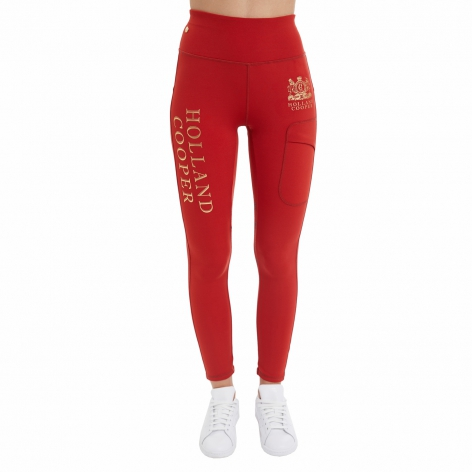 Holland Cooper Orange Leggings