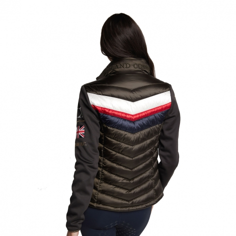 Hybrid Sports Puffer Jacket - Khaki Image 3