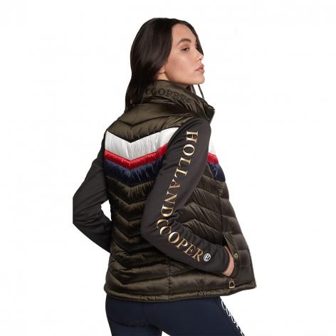 Hybrid Sports Puffer Jacket - Khaki Image 4