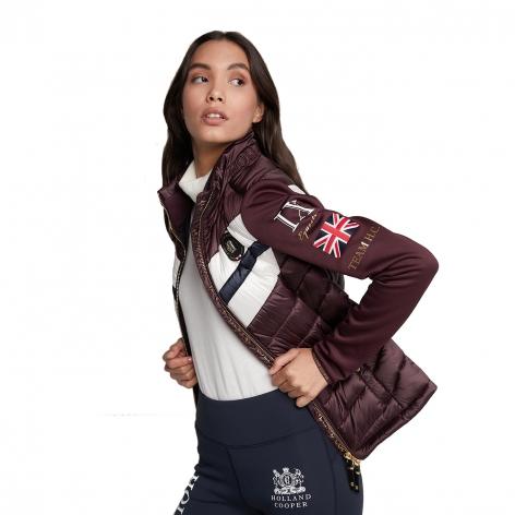 Hybrid Sports Puffer Jacket - Mulberry Image 3
