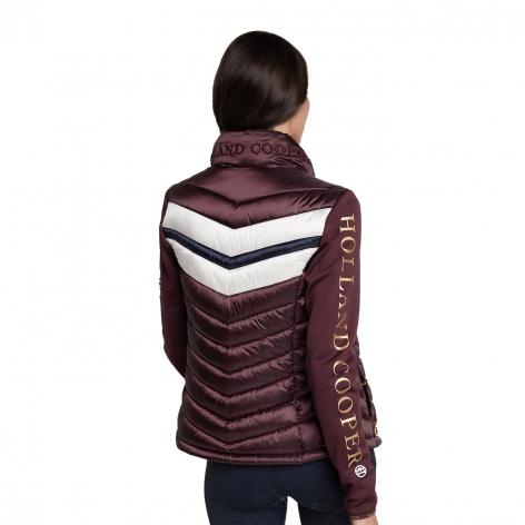 Hybrid Sports Puffer Jacket - Mulberry Image 4