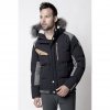 Men's Fahrenheit Parka Jacket - Black Image 1