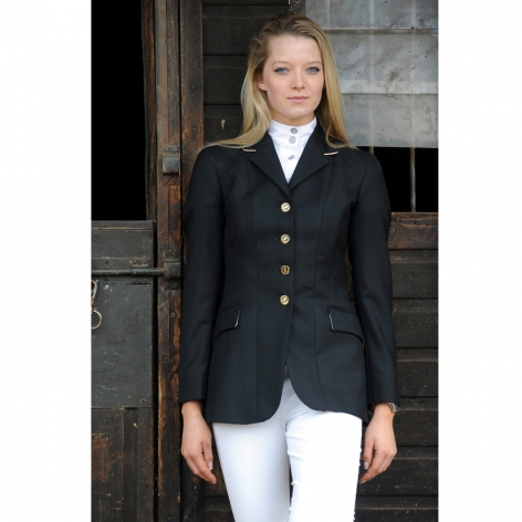 Black Wool Show Jacket