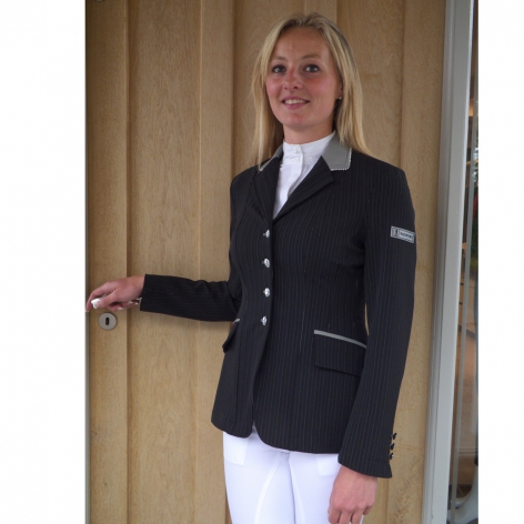 Black Pinstripe Show Jacket