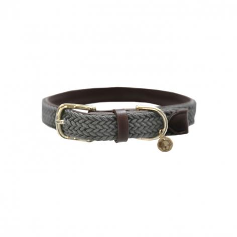 Plaited Nylon Dog Collar - Grey Image 4