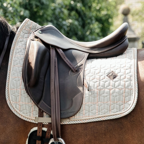 Pied-de-Poule Dressage Saddle Cloth