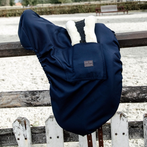 Navy Dressage Saddle Cover