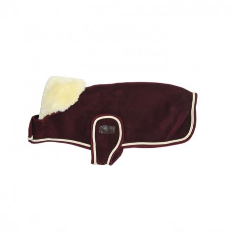 Heavy Fleece Dog Coat - Bordeaux Image 4