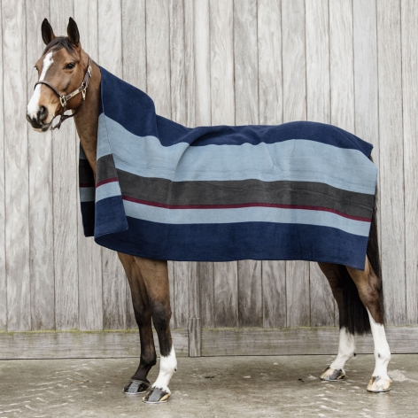 Kentucky Navy Fleece Blanket