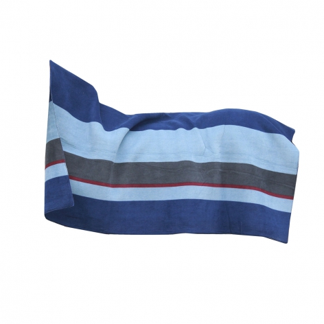 Heavy Fleece Square Blanket - Stripes Navy/Grey Image 4