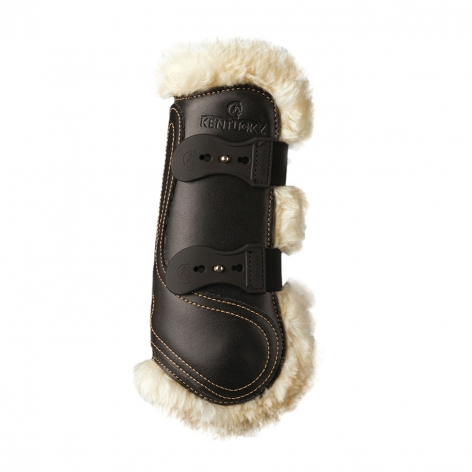 Leather Sheepskin Horse Boots