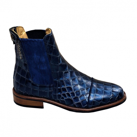 Berlin Croco Blue Short Boots Image 2