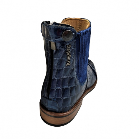 Berlin Croco Blue Short Boots Image 4