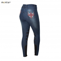 Denim Heartflag Breeches with Silicone Knee 2090-61