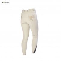 Beige Chevron Breeches with Silicone Knee 2093-21