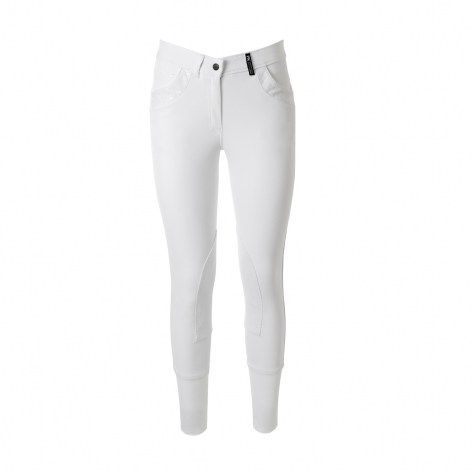 White PK Riding Breeches