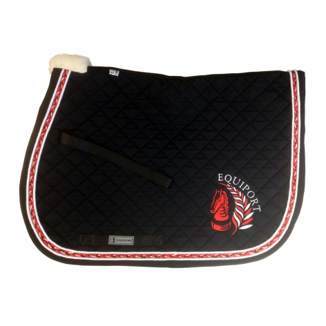 Red Plaited Saddle Cloth with Logo