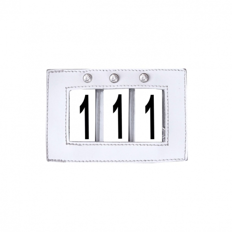 White Crystal Dressage Numbers