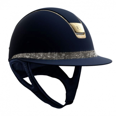Samshield Gold Crystal Riding Hat