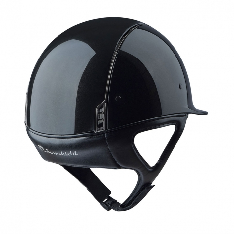 Shadowglossy Riding Hat - Metallic Black Image 3