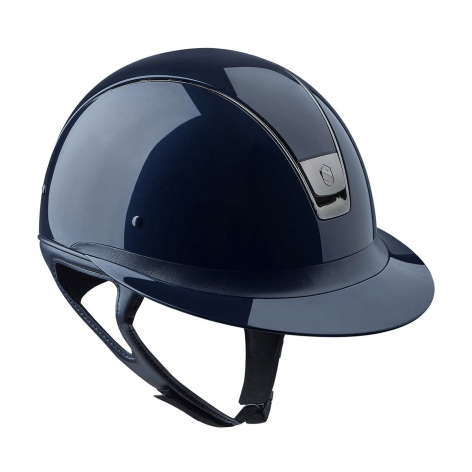 Metallic Blue Riding Hat