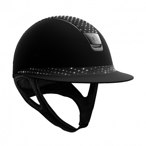 Black Crystal Riding Hat
