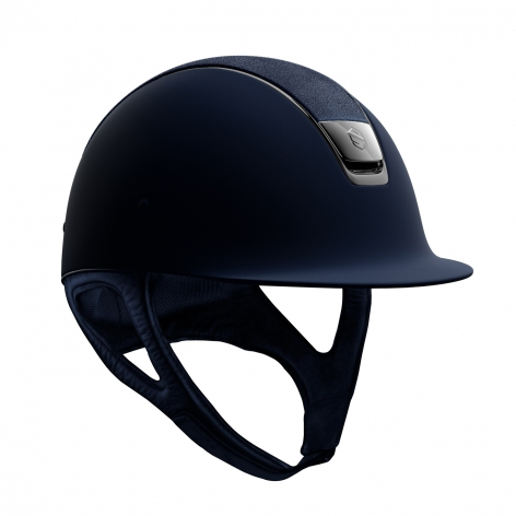Navy Shadowmatt Riding Hat with Alcantara Top