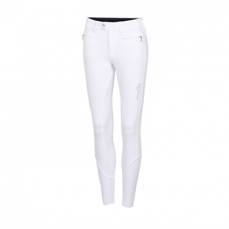 White Crystal Riding Breeches