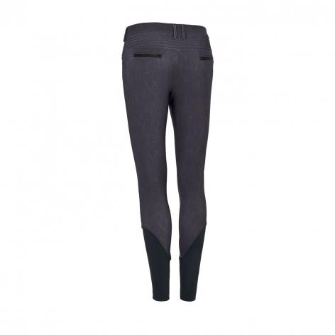 Adele Jeans Breeches - Grey Denim Image 3