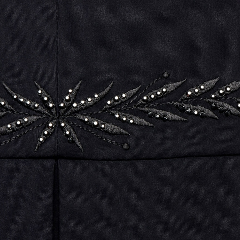 Victorine Embroidery Show Jacket - Black Image 4
