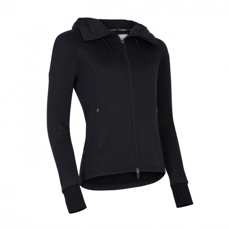 Black Samshield Hooded Top