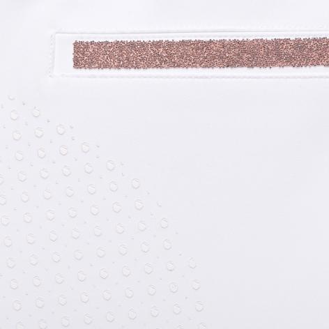 Diane Full Grip Breeches - White/Rose Gold Image 4