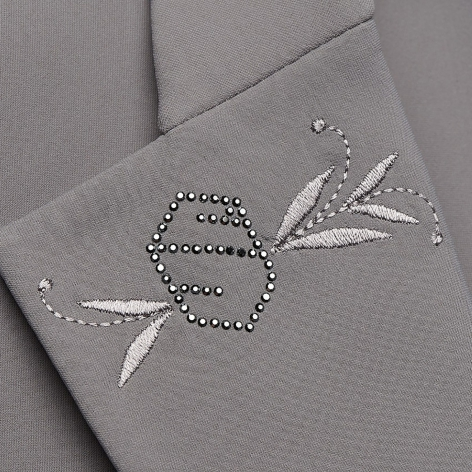 Victorine Embroidery Show Jacket - Grey Image 4
