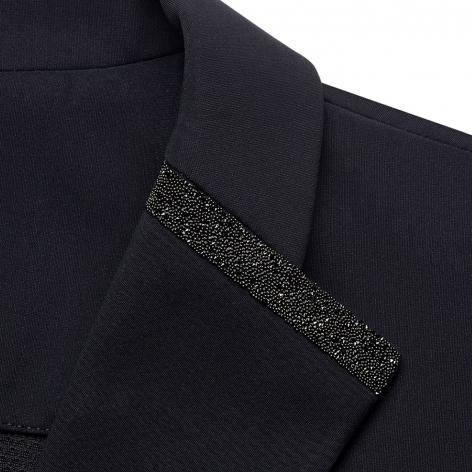Victorine Crystal Fabric Show Jacket - Black Image 4