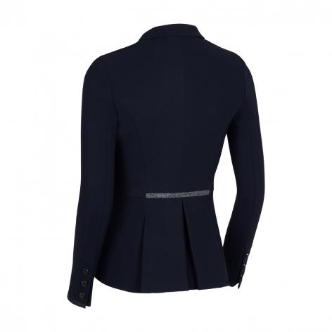 Victorine Crystal Fabric Show Jacket - Navy Image 3
