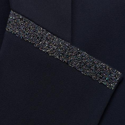 Victorine Crystal Fabric Show Jacket - Navy Image 4