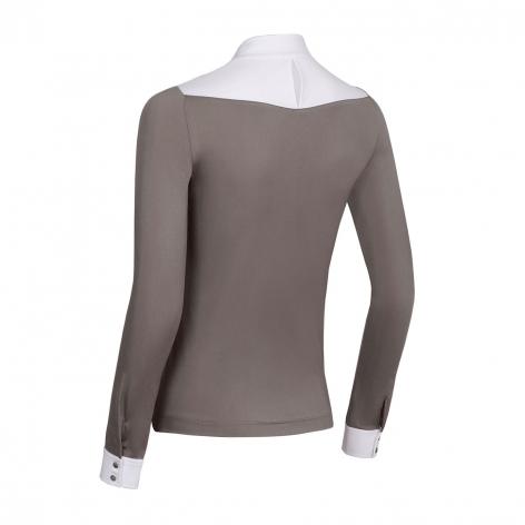 Sophia Long-Sleeved Show Shirt - Taupe Image 3