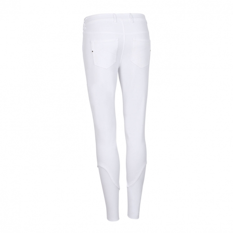 Mila Knee Grip Breeches - White Image 3