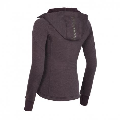 Stella Hooded Fleece Sweatshirt - Aubergine Image 3