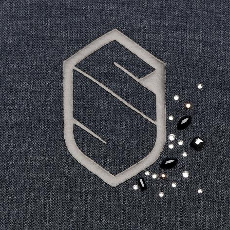 Stella Hooded Fleece Sweatshirt - Navy Image 4