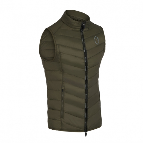 Men's Gstaad Gilet - Olive Green Image 2