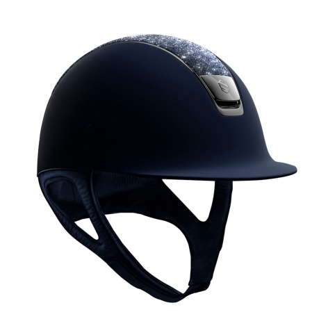 Navy Crystal Riding Helmet