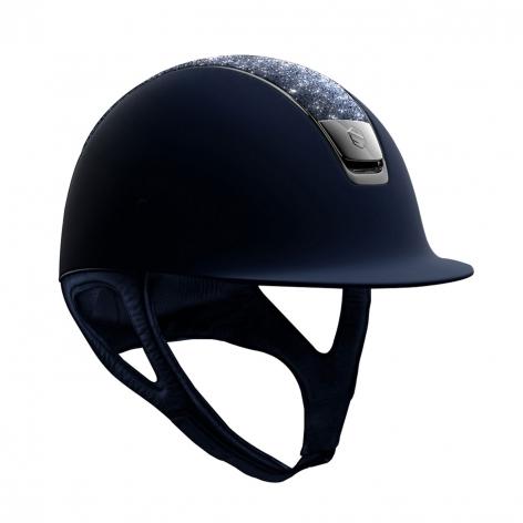 Navy Crystal Riding Helmet