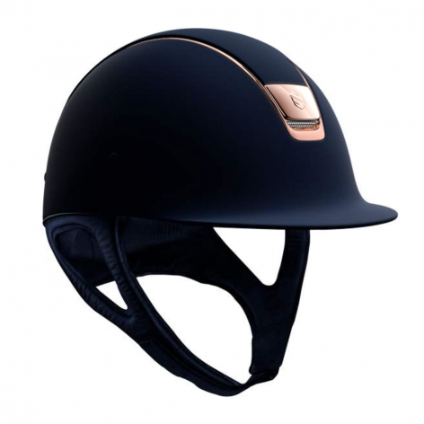 Shadowmatt Riding Hat with Rose Gold Trim Image 3
