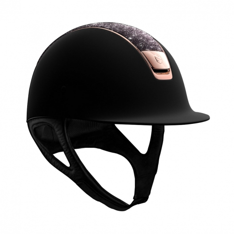 Black and Rose Gold Samshield Hat