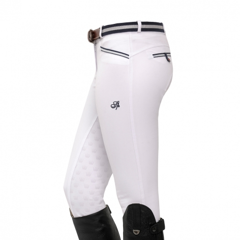 Lucy Full Grip Breeches - White